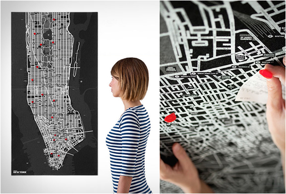 Pin City Wall Maps | Image