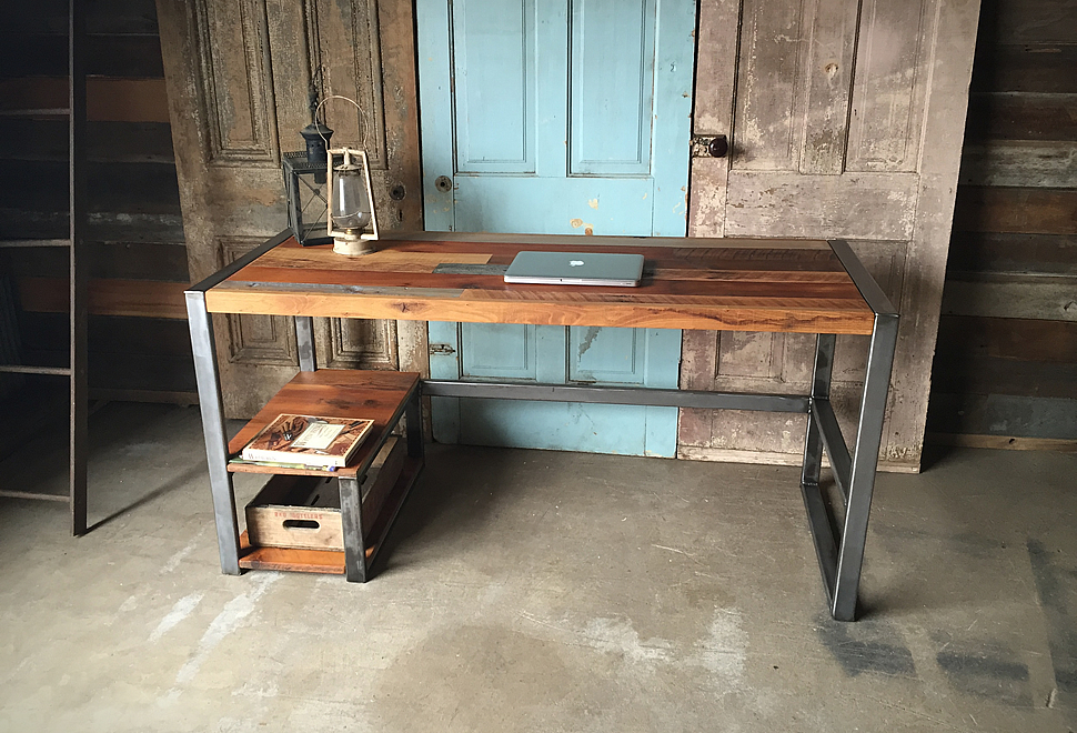 Reclaimed Wood Patchwork Desk | Image