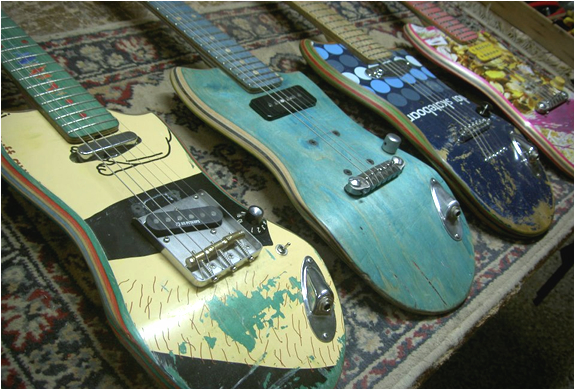 RECYCLED SKATEBOARD GUITARS | Image