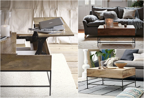 Rustic Storage Coffee Table | Image