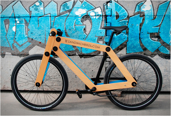 SANDWICHBIKE | FLAT PACKED WOODEN BICYCLE | Image