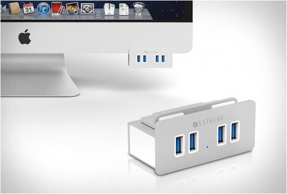 Aluminum Clamp Usb Hub | By Satechi | Image