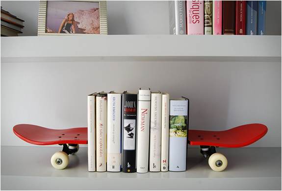 TAIL AND NOSE BOOKENDS | BY SKATE-HOME | Image