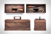 KAUFMANN MERCANTILE WALNUT TOOL BOX