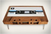 CASSETTE TAPE COFFEE TABLES
