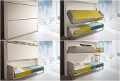 PULL-DOWN BUNK BED | BY GIULIO MANZONI