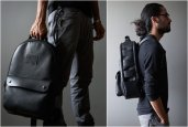 BLACK LEATHER UTILITY BACKPACK | BY KILLSPENCER
