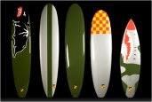 KANA SURFBOARDS INSPIRED BY WORLD WAR II FIGHTER PLANES