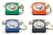 COLORFUL VINTAGE TELEPHONES