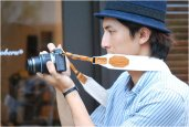 ROBERU LEATHER & CANVAS CAMERA STRAP