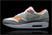 NIKE AIR MAX 1 GREY/WHITE/ORANGE