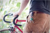 TOOB | RECYCLED BICYCLE INNERTUBES KEYCHAINS