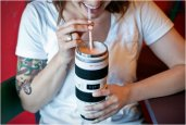 WHITE CANON CAMERA LENS MUG