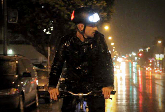 Torch | Bike Helmet With Integrated Lights | Image