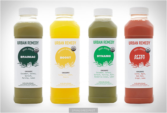 ORGANIC JUICES | BY URBAN REMEDY | Image