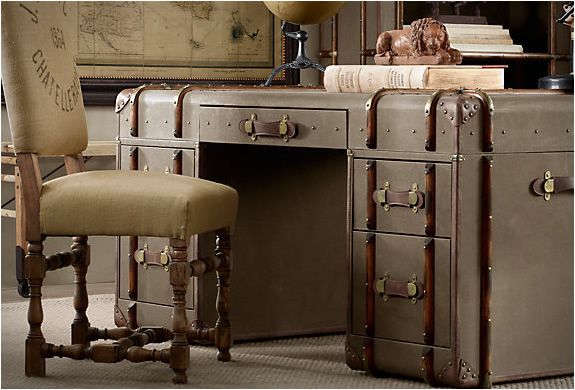 Vintage Trunks By Restoration Hardware