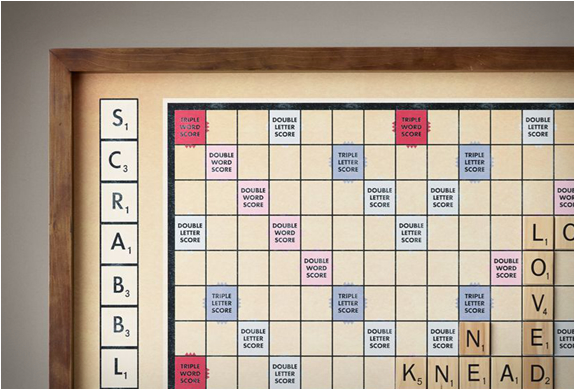 Wall Scrabble By Restoration Hardware