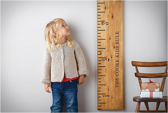 Wooden Ruler Height Chart | Image