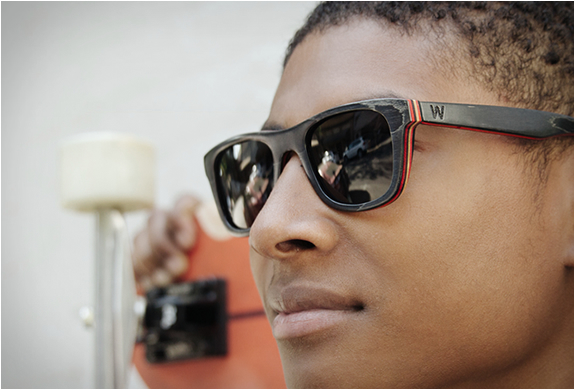 Recycled Skateboard Sunglasses | By Woodzee | Image